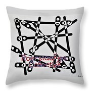Roerstaafjes Collectief Throw Pillow