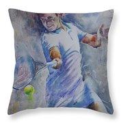 Roger Federer - Portrait 8 Throw Pillow