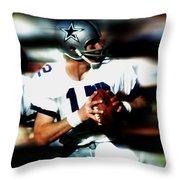 Roger Staubach Throw Pillow