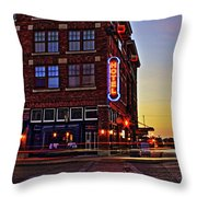 Roger's Hotel Throw Pillow