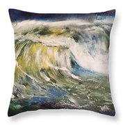 Rogue Wave Throw Pillow