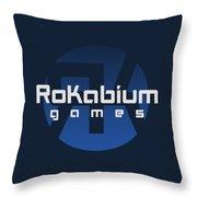 Rokabium Games Logo Throw Pillow