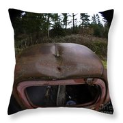 Roll Over Old Truck Throw Pillow