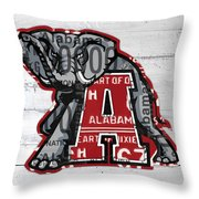 Roll Tide Alabama Crimson Tide Recycled State License Plate Art Throw Pillow