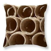 Rolled Steele Throw Pillow