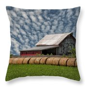 Rolled Up - Hay Rolls And Barn Throw Pillow