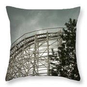 Roller Coaster 4 Throw Pillow