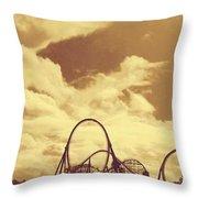 Roller Coaster Rides Throw Pillow