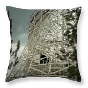 Roller Coaster Throw Pillow