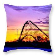 Rollercoaster Of Life Throw Pillow