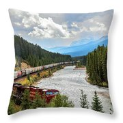 Rollin Down The Track Throw Pillow