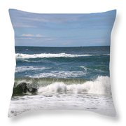 Rolling Ashore Throw Pillow