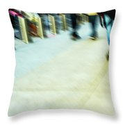 Rolling Blading In Nyc Throw Pillow