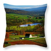 Rolling Countryside Throw Pillow
