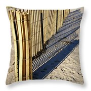 Rolling Fence Throw Pillow