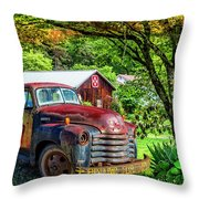 Rolling For Jesus Throw Pillow