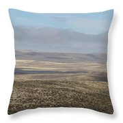 Rolling Gold Throw Pillow