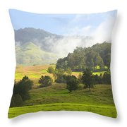 Rolling Green Hills Throw Pillow