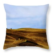 Rolling Hills Of Hay Throw Pillow