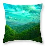 Rolling Hills Of Italy Throw Pillow