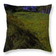 Rolling Hills With Poppies Throw Pillow