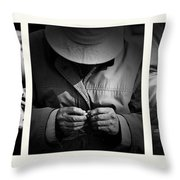 Rolling His Own Throw Pillow by Avalon Fine Art Photography