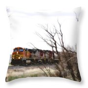 Rolling Into View Throw Pillow