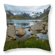 Rolling Mountain Clouds Throw Pillow