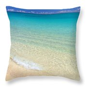 Rolling On Shore Throw Pillow