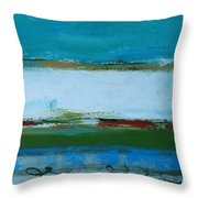 Rolling On The Blue Throw Pillow