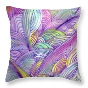 Rolling Patterns In Pastel Throw Pillow