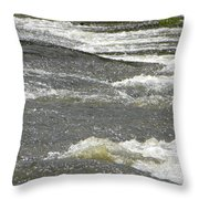 Rolling Rapids Throw Pillow