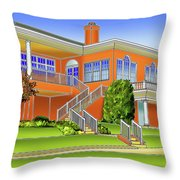 Rolling Road Golf Club Throw Pillow