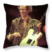 Rolling Stones Keith Richards Painting Throw Pillow