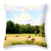 Rolling The Hay Throw Pillow