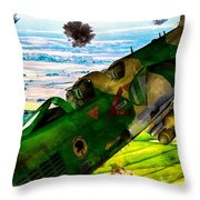 Linebacker II - The Thud - Water Color Throw Pillow