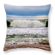 Rolling Tide Throw Pillow