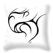 Rolling Tied  Throw Pillow