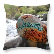 Rolling Water Dreams Throw Pillow
