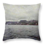Rolling Waves In A Swiss Lake Throw Pillow
