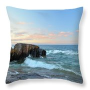 Rolling Waves On Superior Throw Pillow