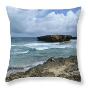 Rolling Waves On The Beach Known As Boca Keto Throw Pillow