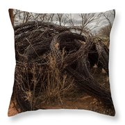 Rolls Of Barbed Wire Throw Pillow