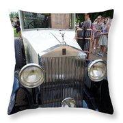 Rolls Royce Ice Cream Car  Throw Pillow