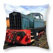 Rolls Royce Sentinel Dl83 Diesel Shunter At The Nene Valley Railway Throw Pillow