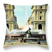 Roma 1900 Piazza Di Termini Throw Pillow