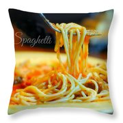 Roma Spaghetti Throw Pillow