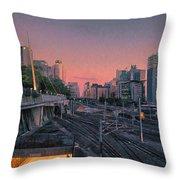 Roma Station Throw Pillow