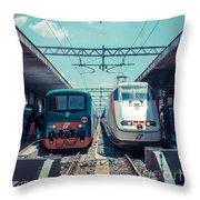Roma Termini Railway Station Throw Pillow