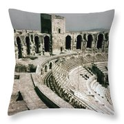 Roman Amphitheatre, Arles Throw Pillow
